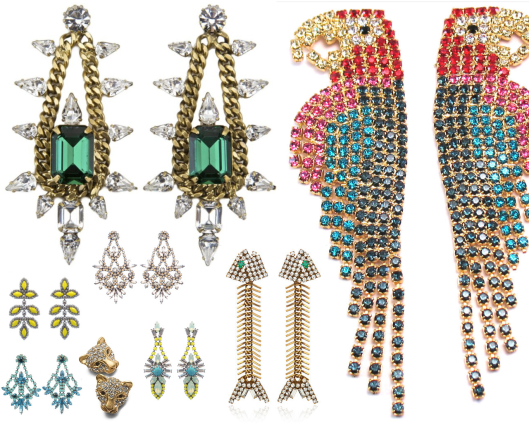 earring collage