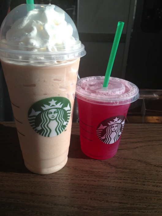 went on a little starbucks date!!! and by date i mean i took my younger sister..