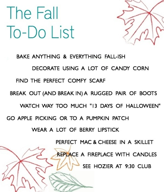 The Fall To-Do List