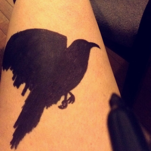 d.i.y. crow tattoos (do not try at home)